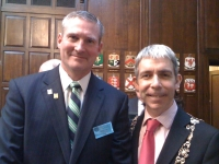 O'Molloy Chieftain Meets with Lord Mayor of Dublin Andrew Montague